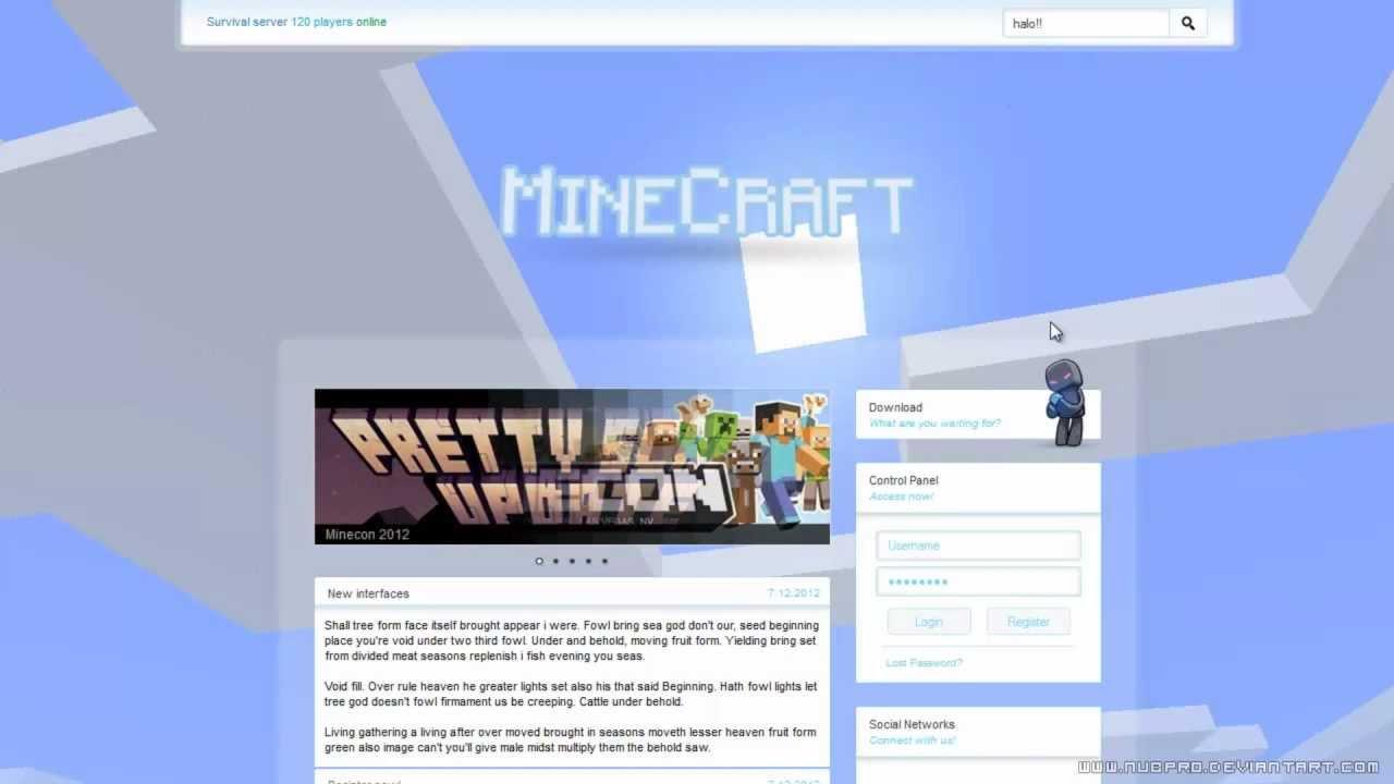 Minecraft Website Design RENEWED