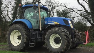 New Holland T7040 Straightpipe Sound Hill Climb