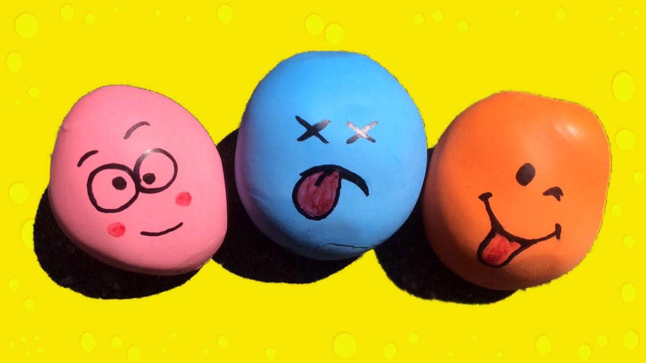 Zelf smileys stressballen maken stressbal maken english for Eigen badkamer tekenen