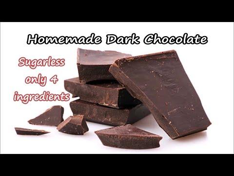 Homemade Dark Chocolate Recipe | How to Make Homemade Dark Chocolate Video