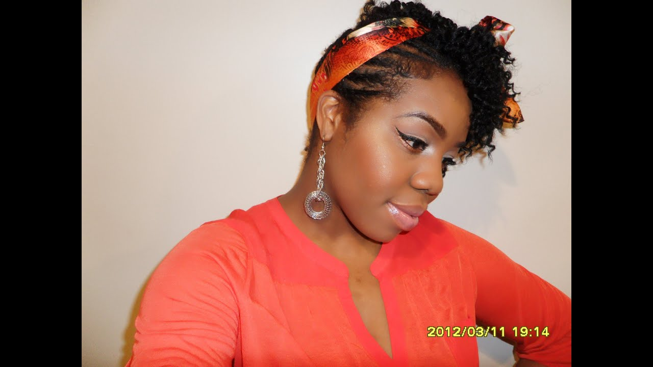 NATURAL HAIR: side braids/twist out updo - YouTube