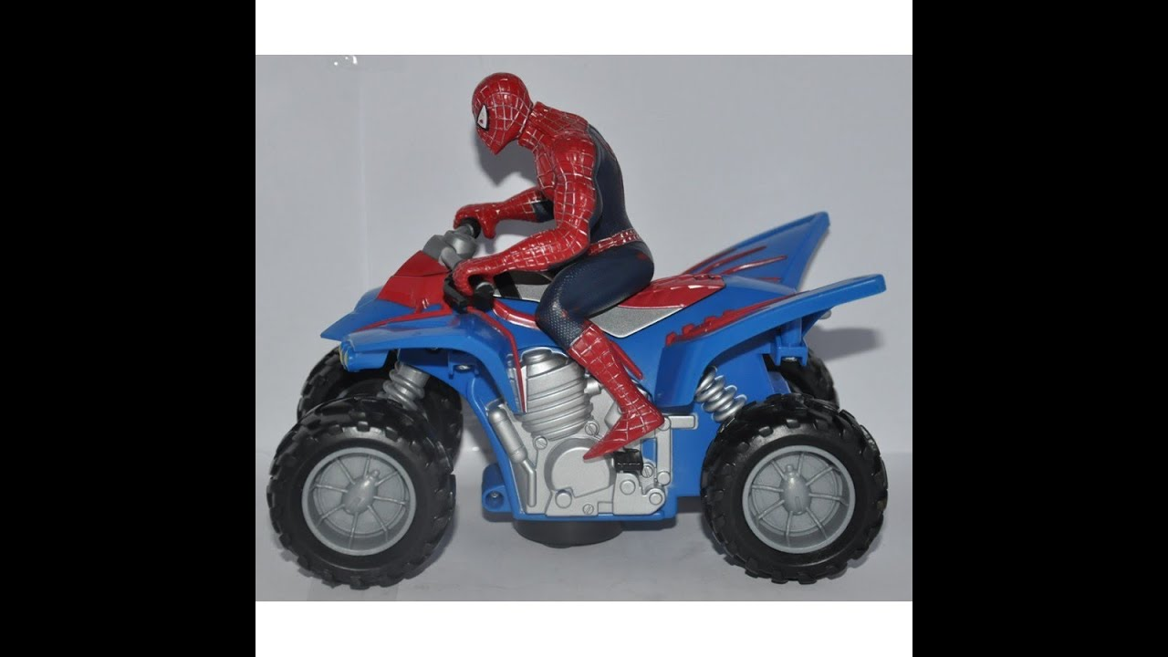 Spiderman On The Super Moto Bike Cool Toy Youtube