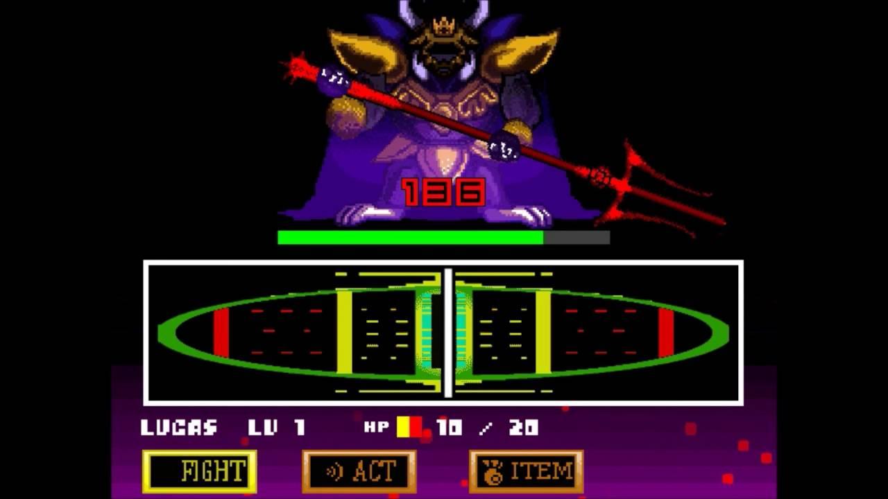 Super Undertale: Asgore Boss Fight 16 bit (UniTale) (Update)