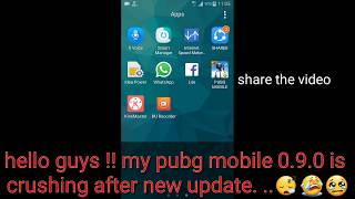 Pubg mobile 0.9.0 update is crushing | pubg mobile is crushing after new update | pubg mobile crush