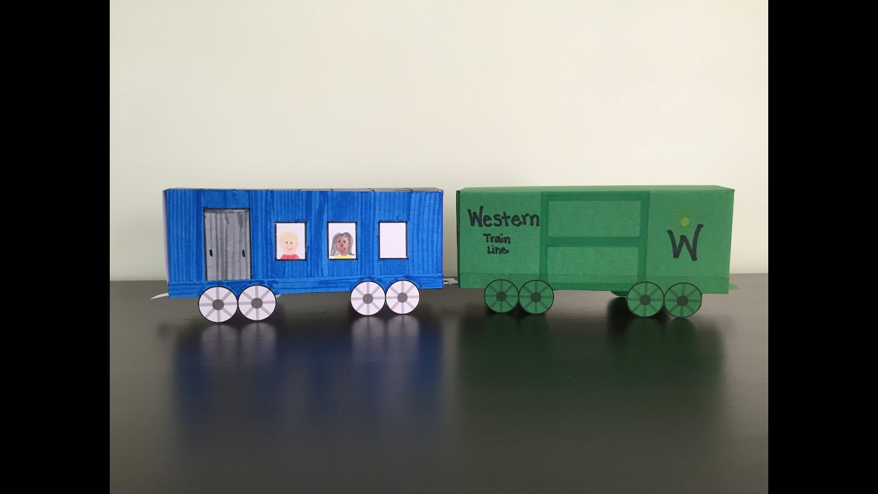 3D Paper Train Part 2 Boxcar