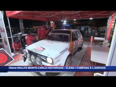 Daniel Elena sur le Rallye Monte-Carlo Historique