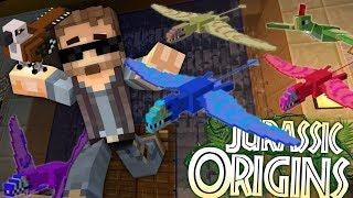 "Jurassic World Origins #13 ""PTERANADONS IN MY HOUSE!"" (Dinosaur Mod Minecraft Roleplay)"