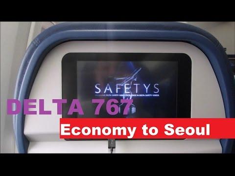 Delta   767-300 in Economy Seattle to Seoul SEA-ICN