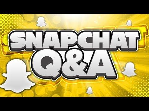 Snapchat QnA - YOUTUBE CRUSH???!