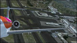 Hawaiian inter-island hop (FSDT's PHNL and PHOG) in the Leonardo Maddog (FSX)