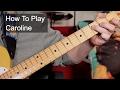 How To Play Caroline Status Quo Guitar Lesson mp3