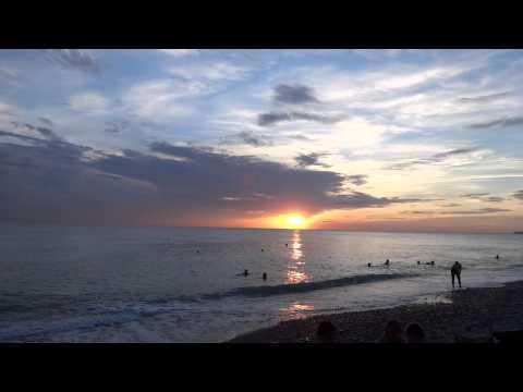 Море - просто сказка!!! 25 августа, пляж на закате, Лазаревское, СОЧИ
