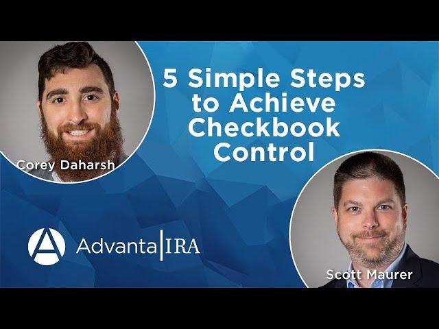 5 Simple Steps to Achieve Checkbook Control