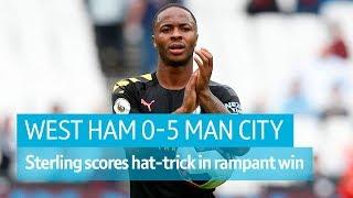 West Ham vs Manchester City (0-5) | Premier League highlights