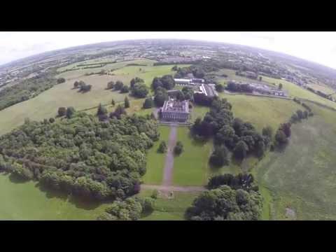 Garbally, Ballinasloe, Galway, Ireland - 4K HD aerial footage