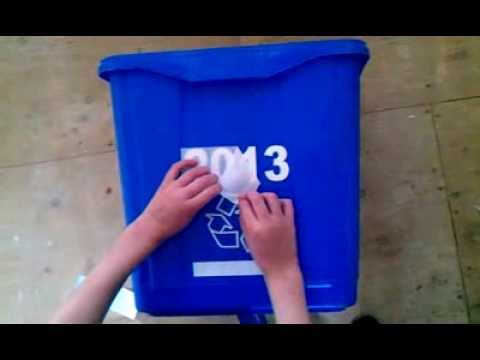How to install a decal to your Blue Bin