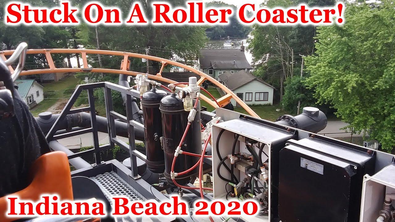 STUCK on a coaster at Indiana Beach | Vlog 27