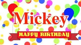 Happy Birthday Mickey Song