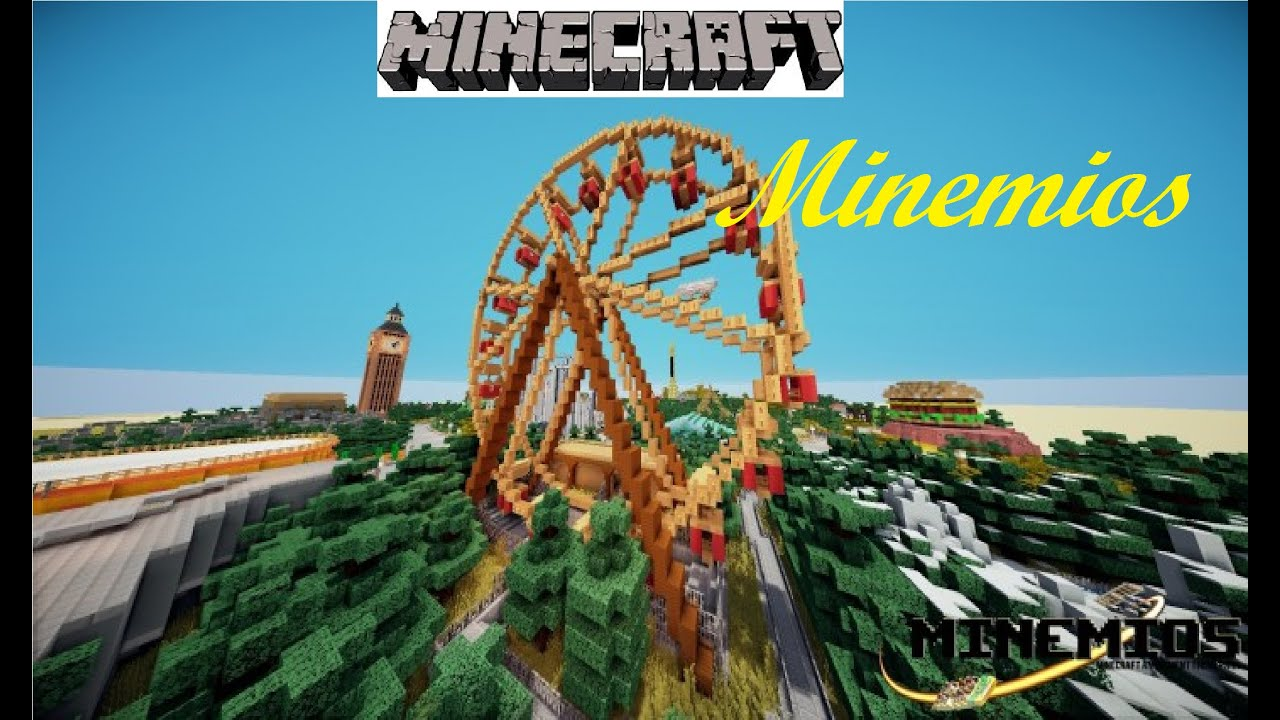minemios le parc d 39 attraction map minecraft minemios 1 2 youtube. Black Bedroom Furniture Sets. Home Design Ideas