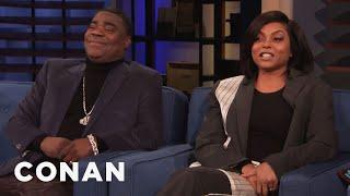 How Taraji P. Henson Keeps A Straight Face Around Tracy Morgan - CONAN on TBS