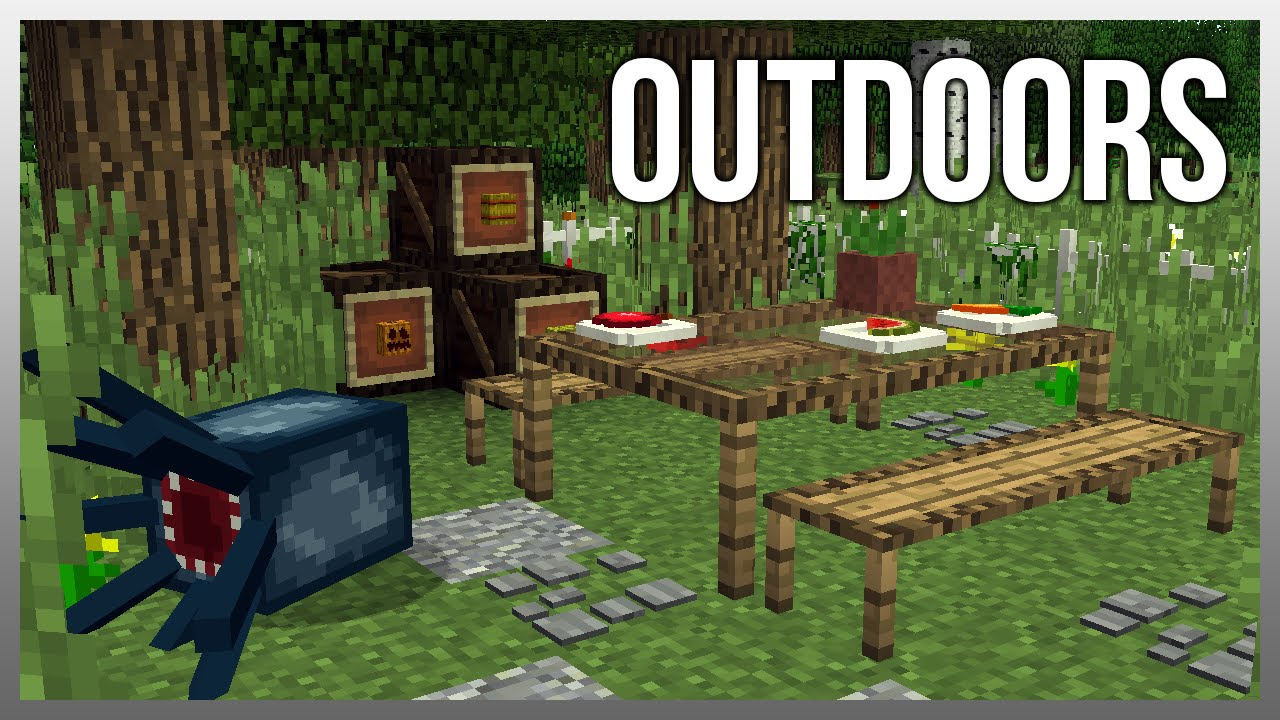 Mrcrayfish S Furniture Mod Update 38 Crates Outdoor Table And