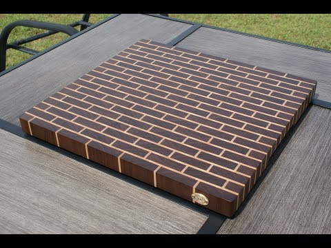 Making an End Graing Brick Wall Cutting Board