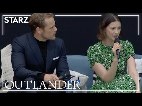 'Outlander' Emmy FYC event: Caitriona Balfe and Sam Heughan say 'time really does fly' while making the time-travel romance [WATCH]