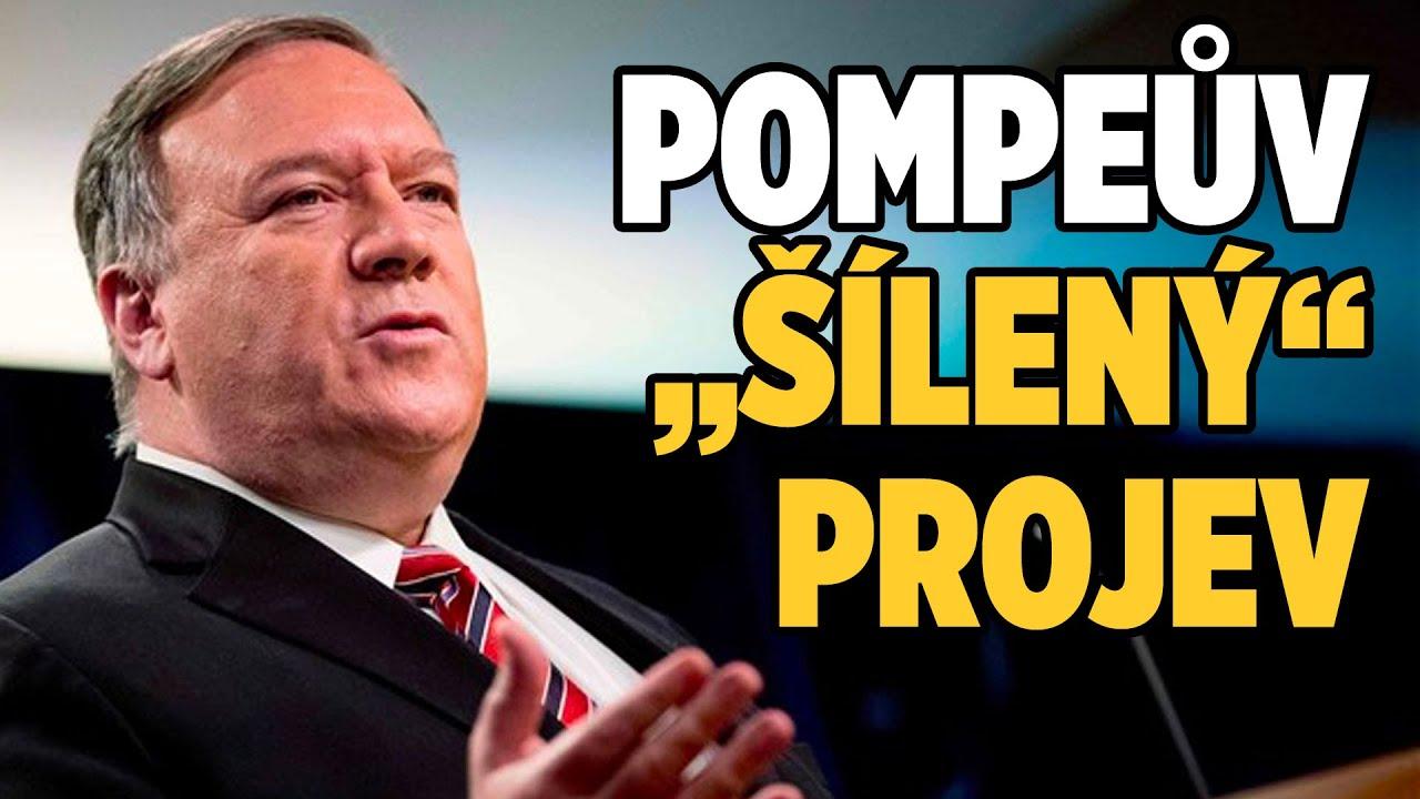 """Pompeův """"šílený"""" projev rozzlobil Čínu (CBC)"""