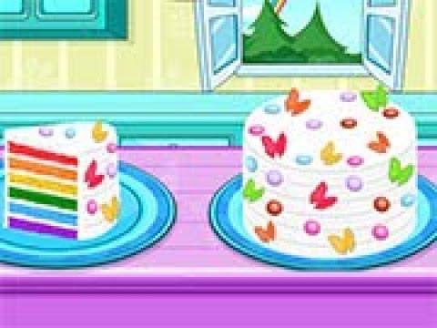 Cooking Rainbow Birthday Cake Artoon For Children Best Kids Games Baby Video