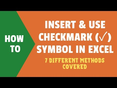 How to Insert a Check Mark (Tick ✓) Symbol in Excel [Quick