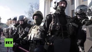 Ukraine: Symbolic pig funeral sparks scuffles outside Verkhovna Rada