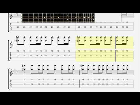Blur   Song 2 guitar 1 TAB