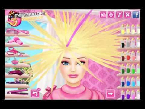 Barbie Gerçek Saç Kesimi