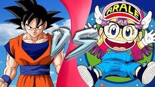 Goku vs Arale Norimaki! (Dragon Ball Super vs Dr. Slump) de dibujos animados de el CLUB de la PELEA!