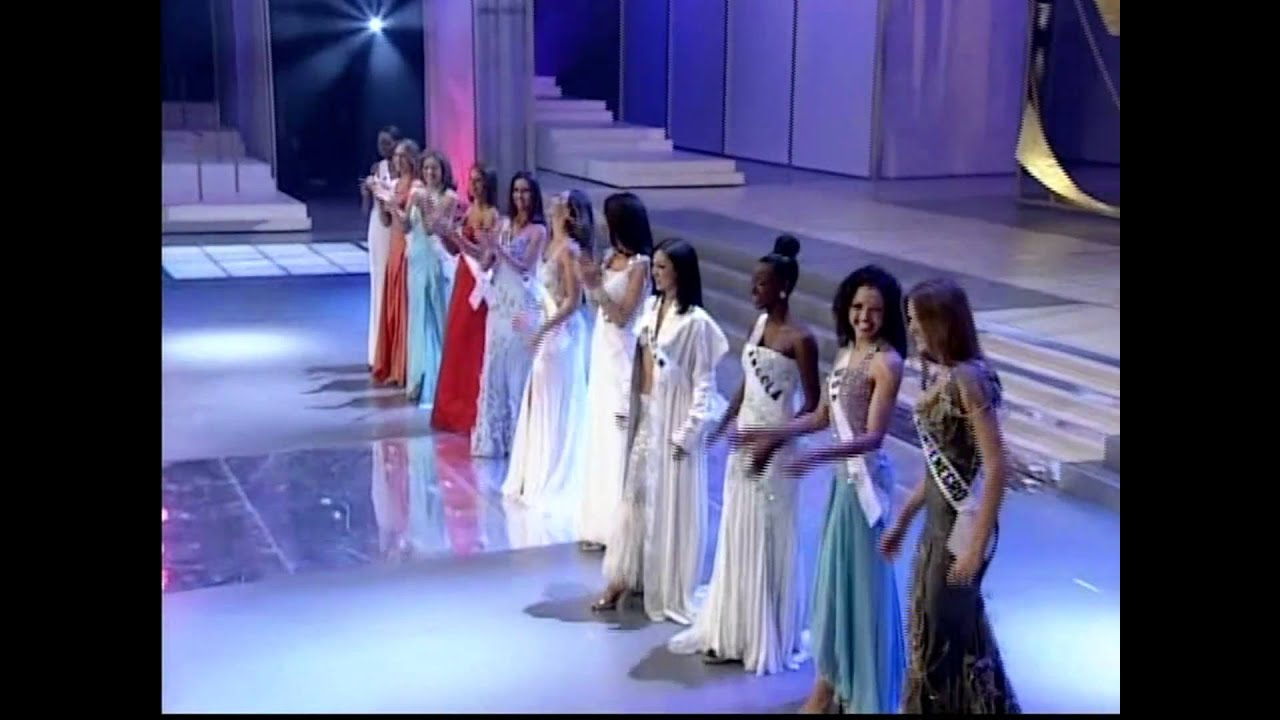 MISS UNIVERSE 2003 Top 10 Announcement - YouTube