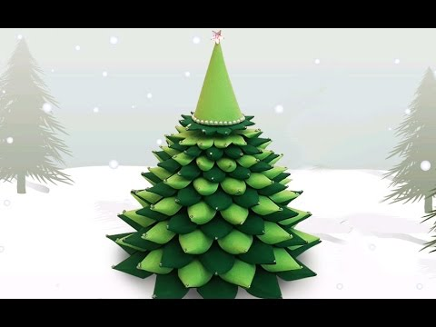 3D Paper Christmas Tree : How to Make a DIY Paper ...