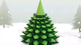 3D Paper Christmas Tree : How to Make a DIY Paper Christmas Tree | X-mas Tree Decorations