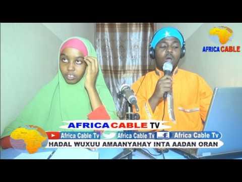 TARAN AQOONEEDKA CITYFM IYO AFRICA CABLE TV 31 05 17