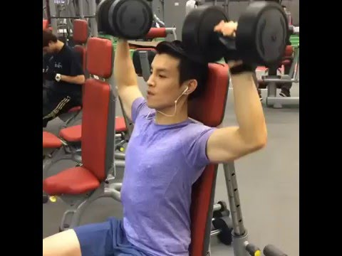 Handsome thai actor -model and fitness muscle workout