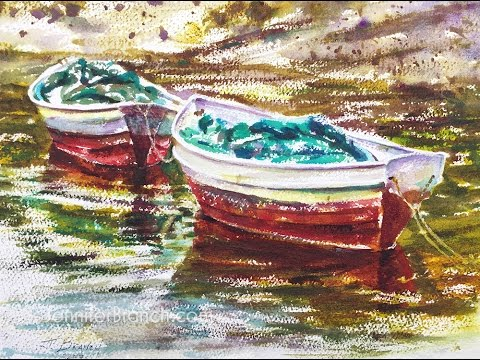 Watercolor Painting Demo, Maine Dories 4k