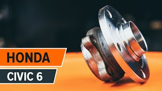Comment changer Kit de roulement de roue HONDA CIVIC VI Fastback (MA, MB) - video gratuit en ligne