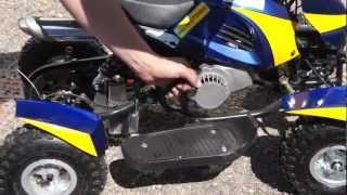 Обзор детских двухтактных бензиновых квадроциклов(Читать статью целиком: http://www.magazinmopedov.ru/mini_atv_mike_motors Музыка: