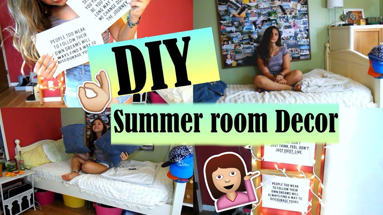 diy summer room decor tumblr pinterest inspired youtube