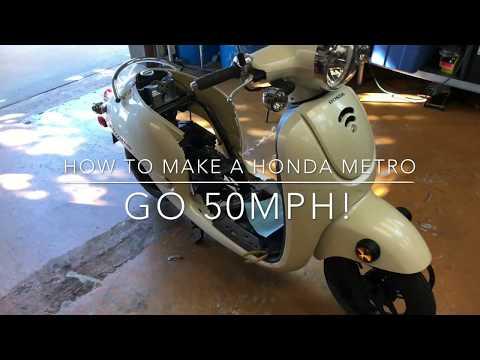 How to make a Honda Metropolitan go 50MPH