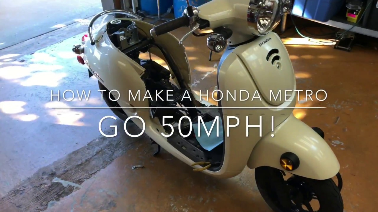 How To Make A Honda Metropolitan Go 50MPH