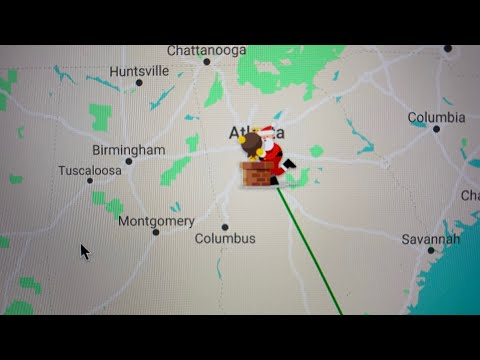Santa Tracker 2019 Has Santa Claus In Atlanta Georgia