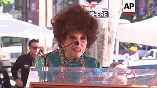Italian actress Gina Lollobrigida receives a star on the Hollywood Walk of Fame