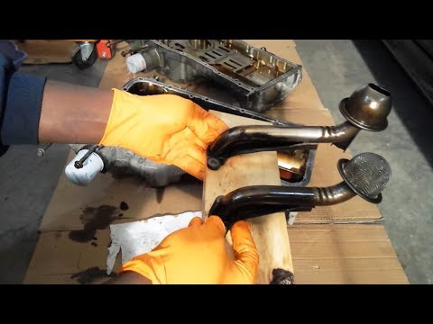 VK45DE Part 4. Oil pan, dipstick & pickup tube | Differences
