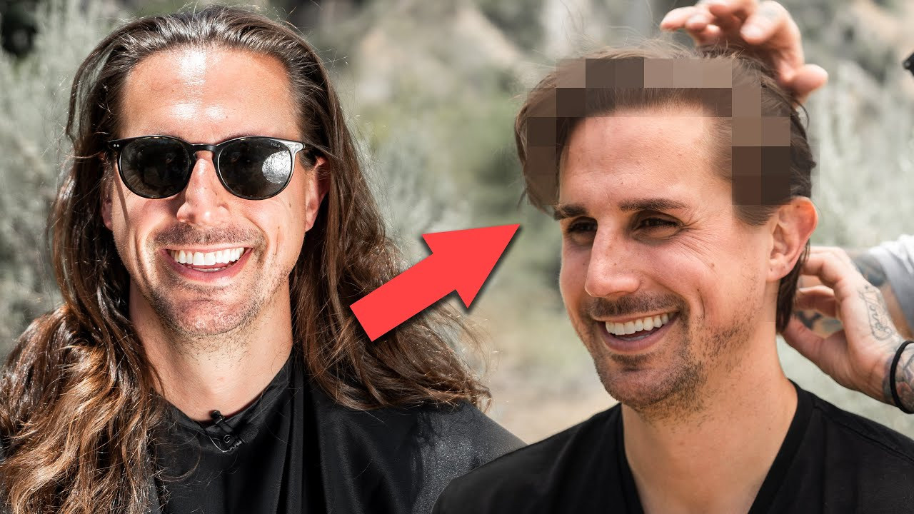 Man Gets First Haircut In 3 Years Mens Long To Short Hair Transformation Youtube