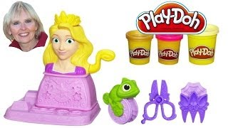 ♥♥  Play-Doh Disney Princess Rapunzel Hair Designs Set